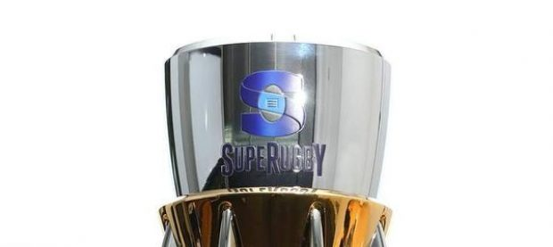 The Super Rugby trophy