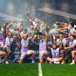 The Exeter Chiefs celebrate their Champions Cup win