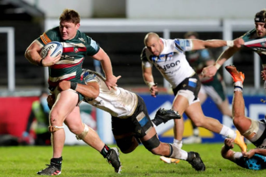 Leicester Tigers No 8 Jasper Wiese in the Premiership