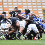 The Sharks scrum against Western Province