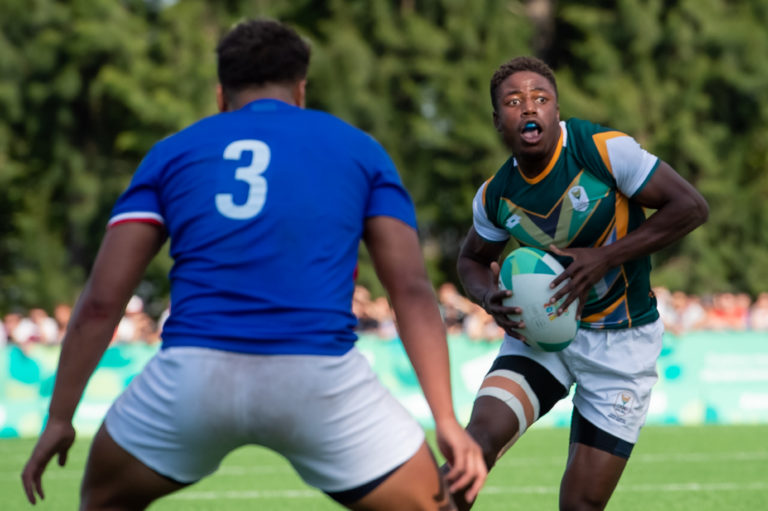 Muzi Manyike playing sevens for South Africa during the 2018 Youth Olympic Games in Buenos Aires