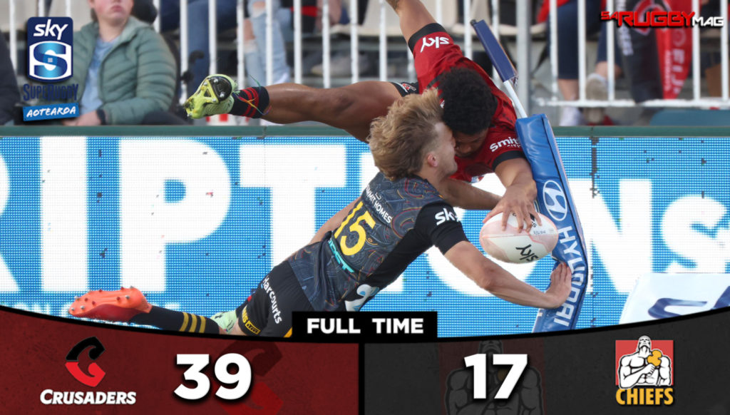 The Crusaders claimed a bonus-point win over the Chiefs