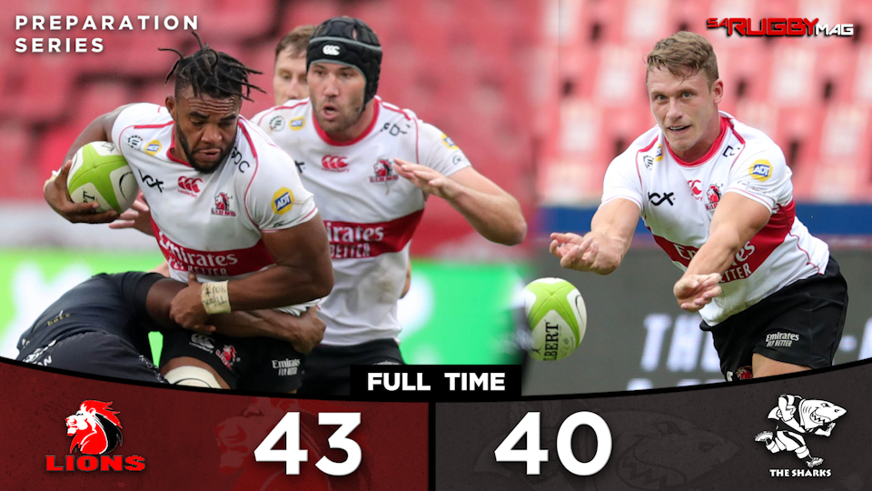The Lions beat the Sharks in Johannesburg