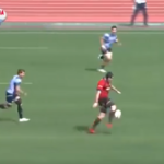 Watch: Former Lions lock goes 70m to score
