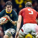 CARDIFF, WALES - NOVEMBER 24: Alun Wyn Jones (captain) of Wales looks to tackle Franco Mostert of South Africa during the Castle Lager Outgoing Tour match between Wales and South Africa at Principality Stadium on November 24, 2018 in Cardiff, Wales.