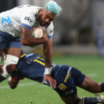 Akira Ioane in action against the Highlanders