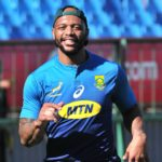 Lionel Mapoe of South Africa during the 2018 The Rugby Championship South Africa training session at Loftus Versfeld Stadium, Pretoria on 01 October 2018 ©Samuel Shivambu/BackpagePix