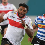 Vincet Tshituka of Lions tackled by Godlen Masimla of Western Province during the Carling Black Label Currie Cup Rugby match between Lions and Western Province on 23 June 2021 at the Emirates Airline Park / Pic Sydney Mahlangu/BackapagePix