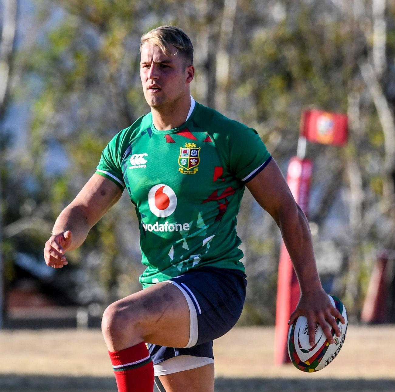 JOHANNESBURG, SOUTH AFRICA - JUNE 29: Duhan Van Der Merwe of the British and Irish Lions during the British and Irish Lions rugby team training session at St Peter's College on June 29, 2021 in Johannesburg, South Africa. (Photo by Sydney Seshibedi/Gallo Images via Getty Images)