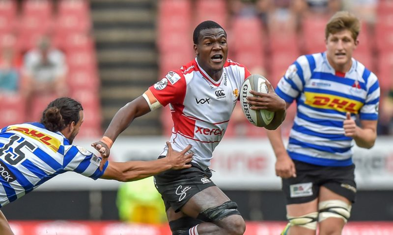 Dillyn Leyds of the DHL WP tackles Hacjivah Dayimani of the Xerox Golden Lions during the Currie Cup Rugby match between the Xerox Golden Lions and DHL Western Province on September 15, 2018 at Emirates Airline Park in Johannesburg, South Africa. @Christiaan Kotze/BackpagePix