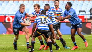 PRETORIA, SOUTH AFRICA - JUNE 19: Louritz Van Der Schyff of the Bulls with the ball during the Carling Currie Cup match between Vodacom Bulls and DHL Western Province at Loftus Versfeld on June 19, 2021 in Pretoria, South Africa. (Photo by Sydney Seshibedi/Gallo Images)