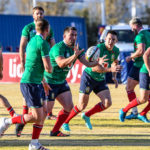 JOHANNESBURG, SOUTH AFRICA - JUNE 29: Players warming up during the British and Irish Lions rugby team training session at St Peter's College on June 29, 2021 in Johannesburg, South Africa.