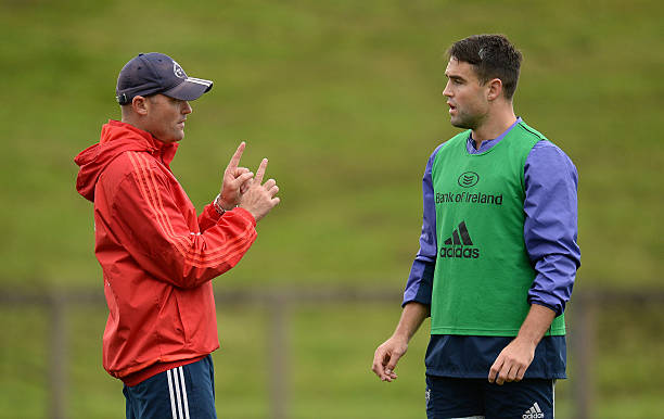 Bok coach Jacques Nienaber and Lions captain Conor Murray