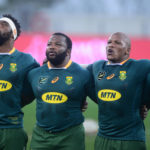The Boks sing the national anthem