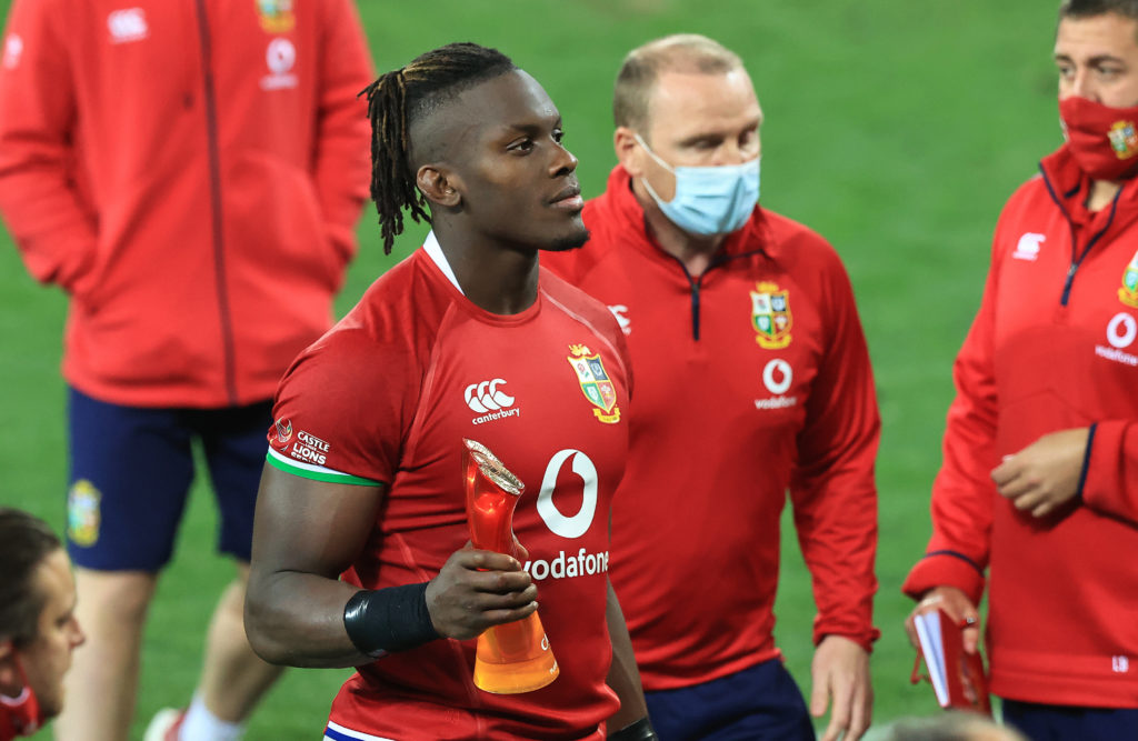 CAPE TOWN, SOUTH AFRICA - JULY 24: Maro Itoje of the British & Irish Lions, who was announced as man of the match looks on during the 1st Test match between the South Africa Springboks and the British & Irish Lions at Cape Town Stadium on July 24, 2021 in Cape Town, South Africa.