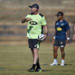 Jacques Nienaber during Bok training