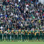 PORT ELIZABETH, SOUTH AFRICA - AUGUST 19: Springboks line up during the Rugby Championship match between South Africa and Argentina at Nelson Mandela Bay Stadium on August 19, 2017 in Port Elizabeth, South Africa.