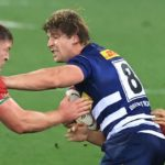 CAPE TOWN, SOUTH AFRICA - JULY 17: Evan Roos of DHL Stormers is tackled by Marcus Smith and Tadhg Furlong of the British & Irish Lions during the match between DHL Stormers and British & Irish Lions at Cape Town Stadium on July 17, 2021 in Cape Town, South Africa. (Photo by David Rogers/Getty Images)
