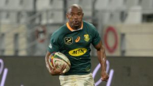 Makazole Mapimpi of South Africa during the 2021 British and Irish Lions Tour first test between South Africa and BI Lions at Cape Town Stadium on 24 July 2021 ©Ryan Wilkisky/BackpagePix