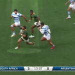 Watch: Reinach outstrips Los Pumas defence for 55m try