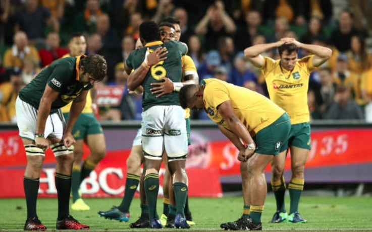 The Springboks in Perth Rugby Championship