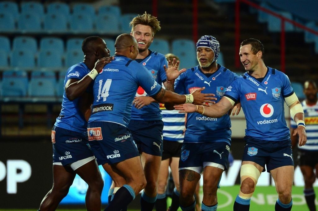 The Bulls celebrate after scoring against Western Province