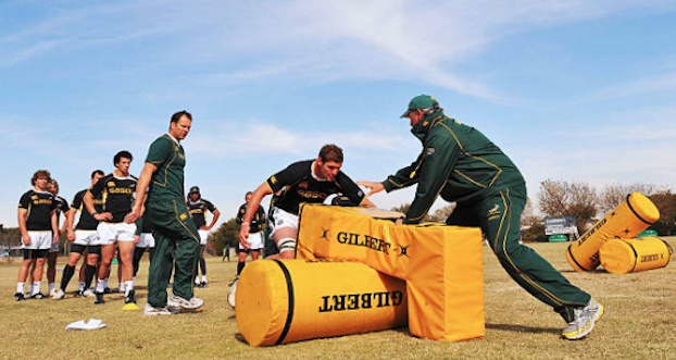 John Plumtree working with the Boks in 2009
