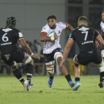 (12463543w) Vincent Tshituka (Lions) carries the ball United Rugby Championship match Zebre Rugby Club vs Emirates Lions, Parma, Italy - 24 Sep 2021