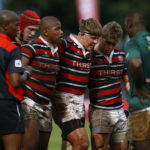 DURBAN, SOUTH AFRICA - APRIL 06: during the Supa Quick Premier Interschools match between Glenwood High School and Maritzburg College at Glenwood High School on April 06, 2019 in Durban, South Africa