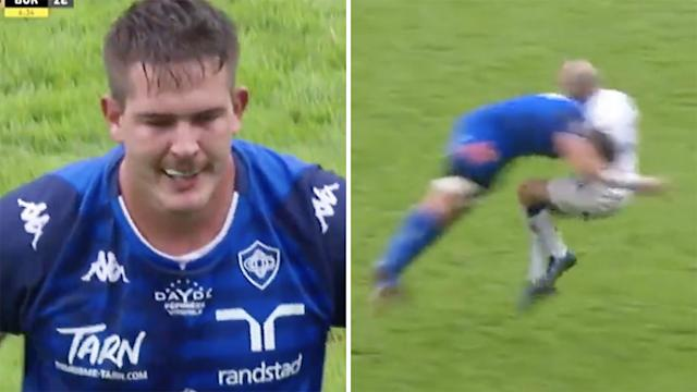Watch: SA lock red carded for horror hit, facing lengthy ban