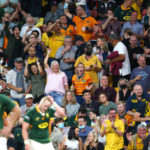 Wallabies fans celebrate the win against the Springboks Nienaber