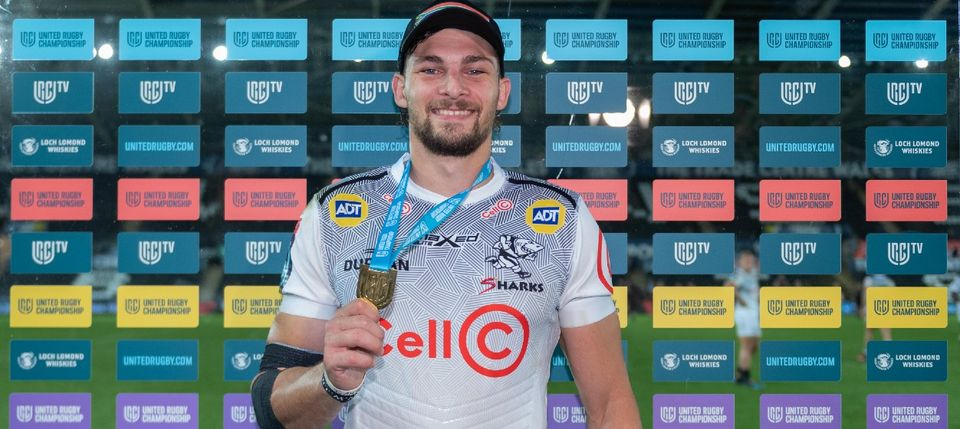 Boeta Chamberlain with his Man of the Match medal