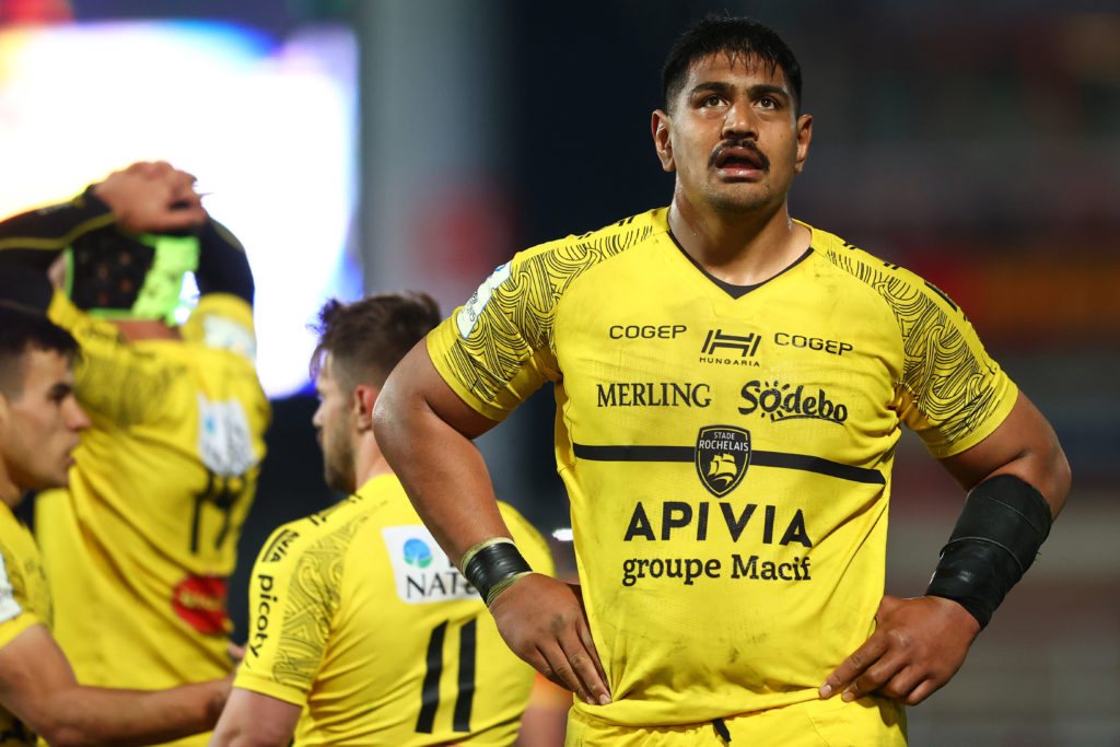 GLOUCESTER, ENGLAND - APRIL 02: Will Skelton of La Rochelle during the Heineken Champions Cup Round of 16 match between Gloucester and La Rochelle at Kingsholm Stadium on April 02, 2021 in Gloucester, England.