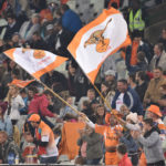 BLOEMFONTEIN, SOUTH AFRICA - JULY 21: fans during the Currie Cup match between Toyota Free State Cheetahs and Cell C Sharks at Toyota Stadium on July 21, 2017 in Bloemfontein, South Africa.