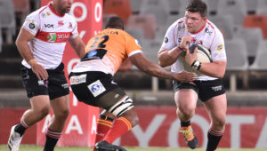 BLOEMFONTEIN, SOUTH AFRICA - AUGUST 11: Nathan McBeth of the Sigma Lions during the Carling Currie Cup match between Toyota Cheetahs and Sigma Lions at Toyota Stadium on August 11, 2021 in Bloemfontein, South Africa.