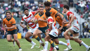 OITA, JAPAN - OCTOBER 23: Quade Cooper of Australia during the rugby international test between Japan and Australia at Showa Denko Dome on October 23, 2021 in Oita, Japan.